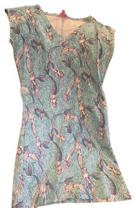 Lilly Pulitzer short dress mermaid pattern blue Summer Preppy on Tradesy