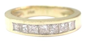 Other Fine 7 Princess Cut Diamond Engagement Ring 14KT 0.74CT