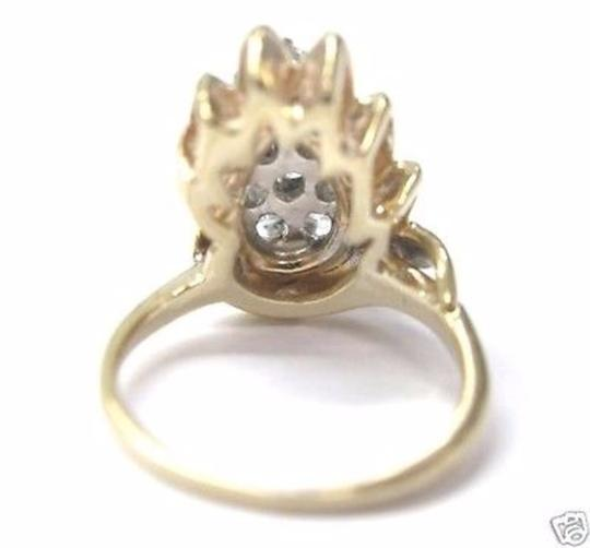 Other Fine Pear Shape Cluster Diamond Ring YG 14KT 0.82CT Image 2