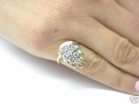 Other Fine Pear Shape Cluster Diamond Ring YG 14KT 0.82CT Image 3