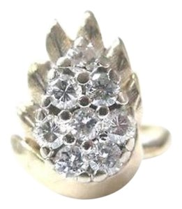 Other Fine Pear Shape Cluster Diamond Ring YG 14KT 0.82CT