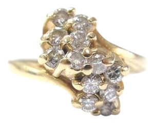 Other Fine Cluster Diamond Waterfall Jewelry Ring 14KT 0.70CT