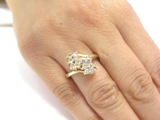 Other Fine Cluster Diamond Waterfall Jewelry Ring 14KT 0.70CT Image 4