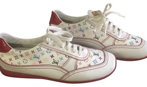 Louis Vuitton white multi red sole Athletic
