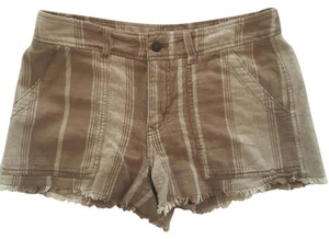Free People Cut Off Shorts Brown and tan striped