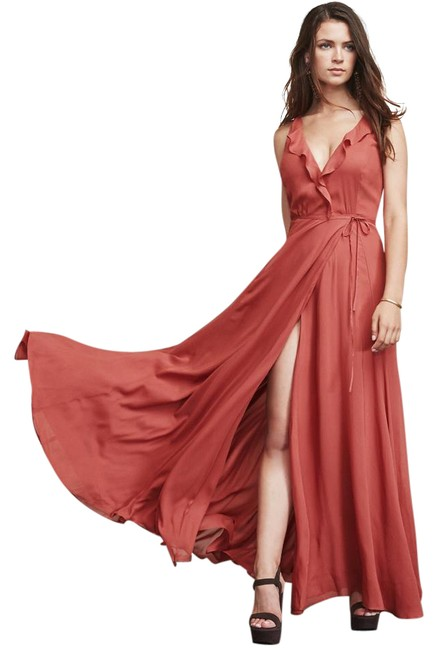 Item - Strawberry Arabella Wrap Front For Boobs Long Casual Maxi Dress Size 2 (XS)
