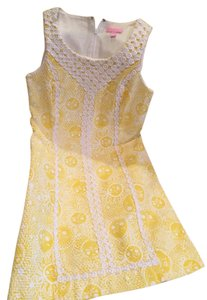 Lilly Pulitzer short dress yellow Preppy Summer on Tradesy