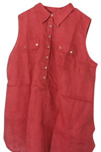 Avenue Button Down Shirt red