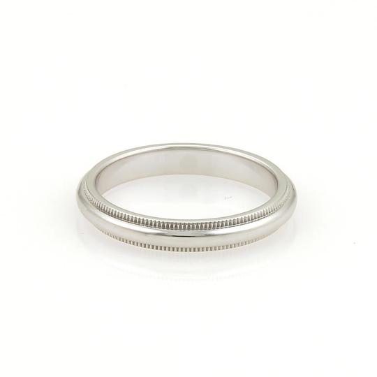 Tiffany & Co. Platinum Double Milgrain 3mm Dome Wedding Band Ring Size 3.5 Image 1