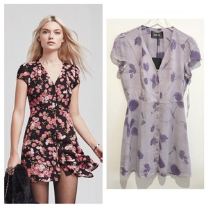 Reformation short dress purple on Tradesy
