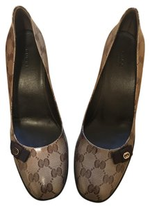Gucci Gg Brown Pumps