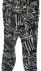 Forever 21 Relaxed Pants black and white print