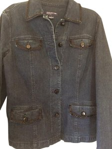 Jones New York Denim with black buttons Womens Jean Jacket