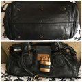 Chloé Satchel in Black with Gold tone lock and key. Image 1
