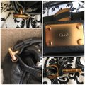 Chloé Satchel in Black with Gold tone lock and key. Image 3