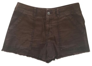 Free People Cut Off Shorts Blackish plum