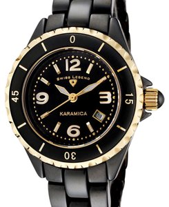 Swiss Legend Women's Karamica Black & Gold Watch