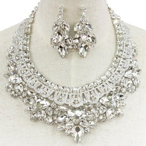 Princess Crystal Necklace And Earring Bridal Set