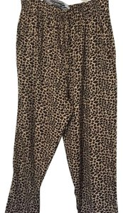Apollo Relaxed Pants leopard print drawstring