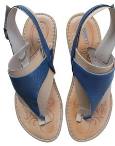 Børn Flipflip Leather blue Sandals