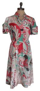 Elie Tahari short dress Multi Tea Knee Length Front Button All Seasons Tahari on Tradesy