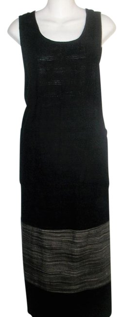 Preload https://img-static.tradesy.com/item/21154587/black-and-gray-vintage-2-sided-overlapping-linen-sleeveless-long-casual-maxi-dress-size-10-m-0-1-650-650.jpg