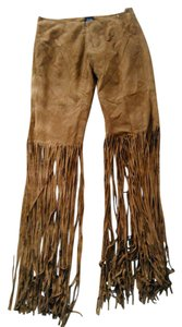 Anaum Nutmeg Suede Fringe Pants Never Worn Trouser Pants Anaum Nutmeg Suede Fringe Pants/shorts Never Worn