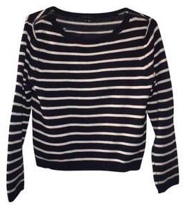 Theory Boat Neck Cropped Crop Sweater