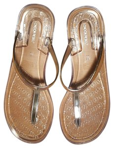 London Rebel Silver & Clear Sandals