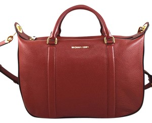 Michael Kors Satchel in red brick