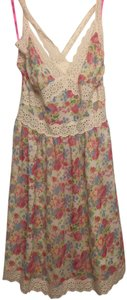 Betsey Johnson short dress White with colored floral on Tradesy