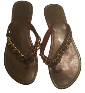 Mystique Boutique Brown and Gold Sandals