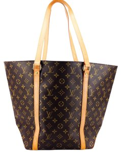 Louis Vuitton Canvas Leather Vachetta Shopping Tote in Brown