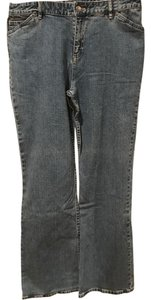 J. Jill Pant Trouser Slacks Stretchy Relaxed Fit Jeans-Medium Wash