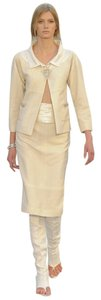 Chanel Sequin 12c Nwt Tweed ivory Jacket