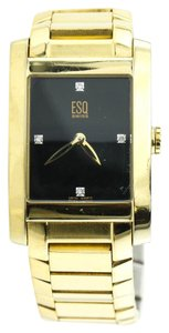 ESQ * ESQ E5342 Gold Tone Swiss Quartz Ladies Watch