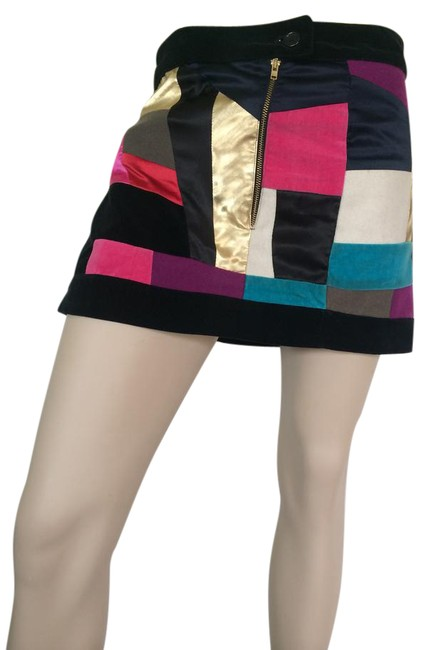 Sonia Rykiel Velvet Women's Mini Skirt Multi-color Image 0