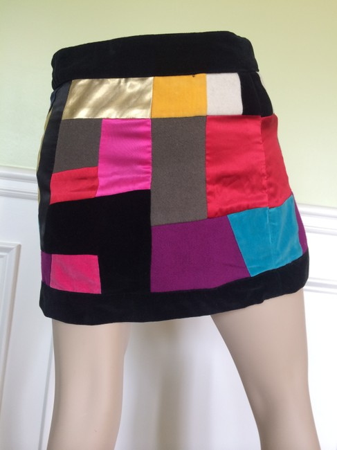Sonia Rykiel Velvet Women's Mini Skirt Multi-color Image 4