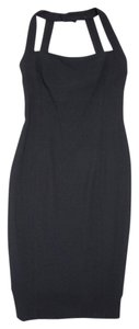 Chanel short dress black Shift Pencil 95a on Tradesy