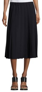 Michael Kors Pleated A-line Classic Skirt Navy Blue
