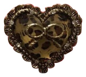 Betsey Johnson Heart & Bow ring