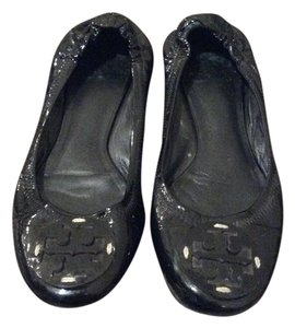 Tory Burch Reva Patent Leather Black Flats