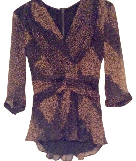 Item - Black and Gold Blouse Size 4 (S)