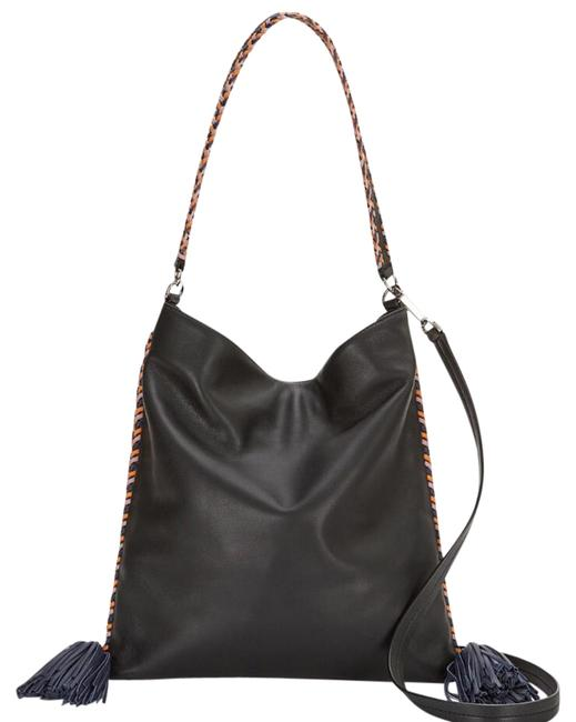 Rebecca Minkoff Chase Convertible Black Leather Hobo Bag Rebecca Minkoff Chase Convertible Black Leather Hobo Bag Image 1