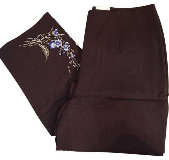 Preload https://img-static.tradesy.com/item/21155777/ann-taylor-brown-embroidered-hem-wool-straight-leg-pants-size-6-s-28-0-1-650-650.jpg