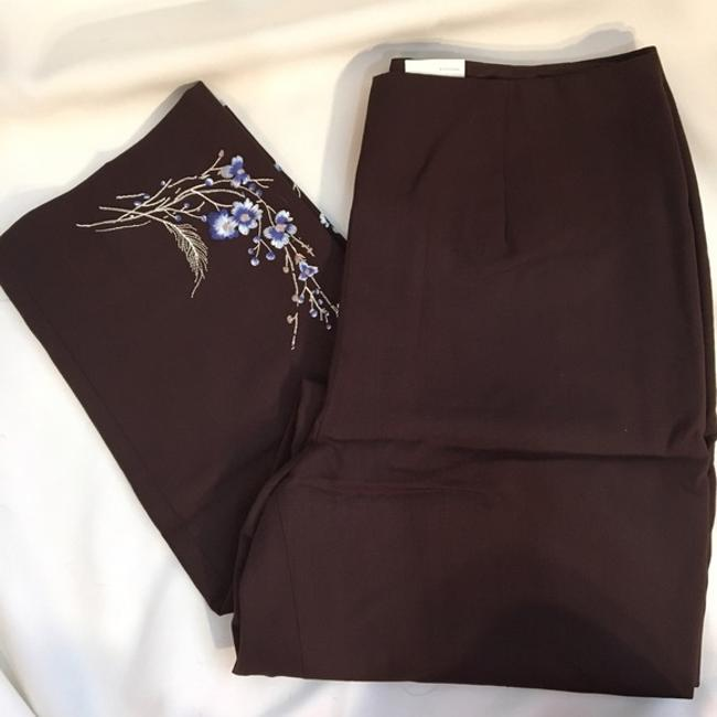 Ann Taylor Wool Straight Pants Brown Image 4