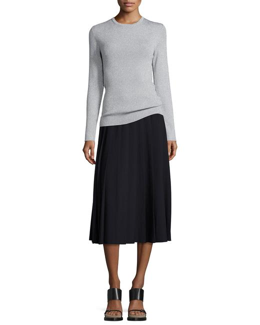 Michael Kors Pleated A-line Classic Skirt Navy Blue Image 1