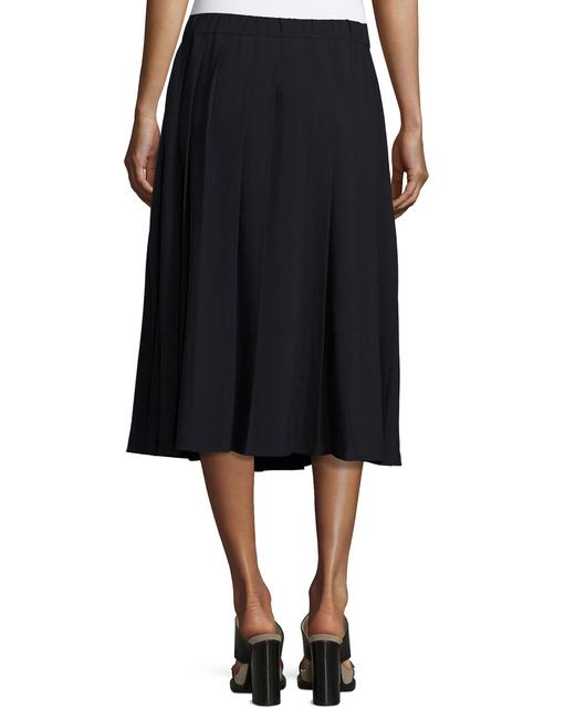 Michael Kors Pleated A-line Classic Skirt Navy Blue Image 2