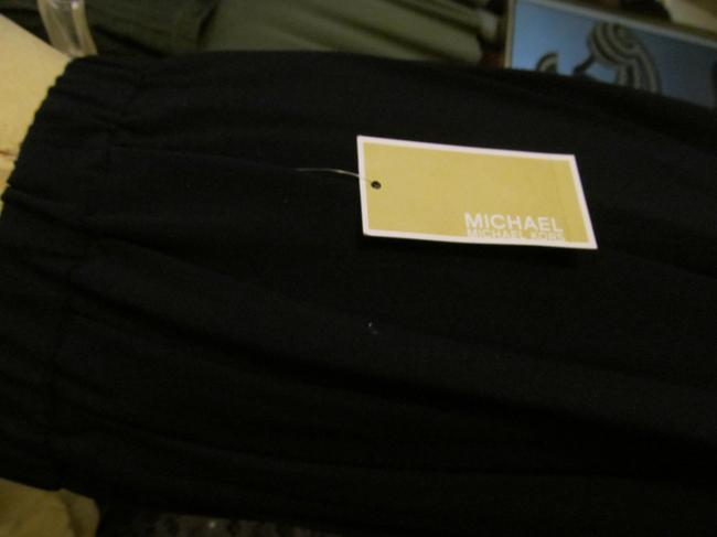 Michael Kors Pleated A-line Classic Skirt Navy Blue Image 3