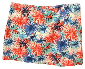 Lilly Pulitzer Mini Skirt Red & blue